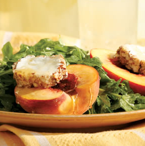 Arugula Salad with Honey-Drizzled Peaches - another healthy recipe from EatingWell