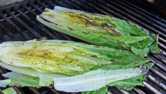 Grilled Romaine Hearts - another healthy recipe from EatingWell