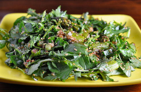 Sesame Stir-Fried Chinese Greens - another healthy recipe from EatingWell