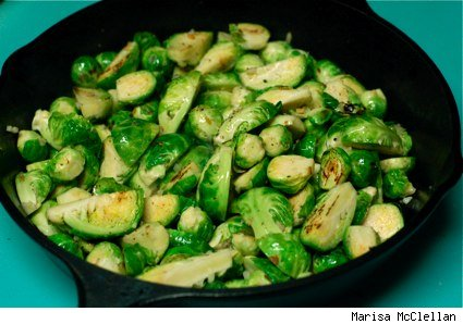 Pan-Toasted Brussel Sprouts